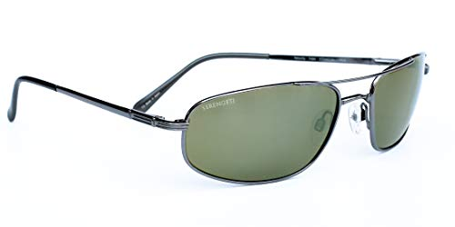 Serengeti Velocity Sunglasses (Shiny Gunmetal 555nm Polarized)