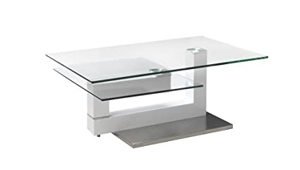 Genial Neos Modern Furniture Creative Images International Motion Collection Glass Top  Coffee Table With Adjustable Configuration And