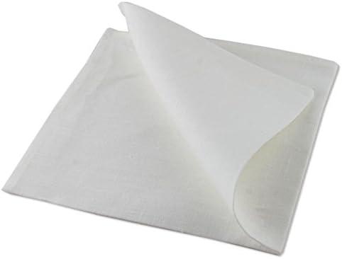 100 servilletas de mesa, algodón, 40x40cm, 4 dobladillos.: Amazon ...