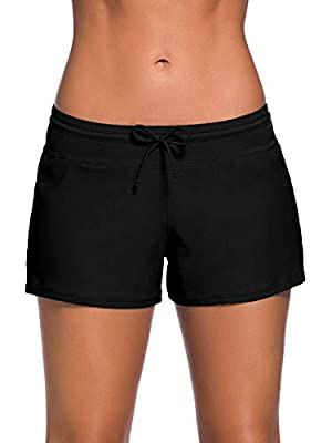 WILLBOND Women Swimsuit Shorts Tankini Swim Briefs Plus Size Bottom Boardshort Summer Swimwear Beach Trunks for Girls