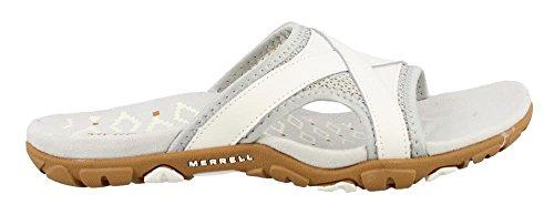 Merrell Women's, Sandspur Delta Slide Sandals White 7 M - Delta Leather