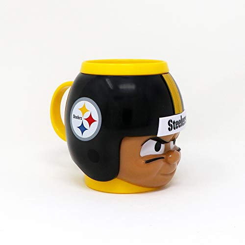 Party Animal Officially Licensed NFL BMST Pittsburgh Steelers Big Sip Drink Mug, 16oz, Multi