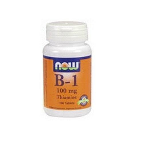 NOW Foods Vitamin B-1 (thiamine), 100 comprimés 100mg / (Pack de 4)