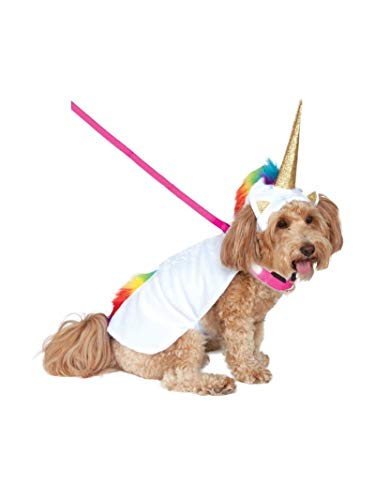 Rubie's Unicorn Cape with Hood and Light-Up Collar Pet Costume, Extra-Large