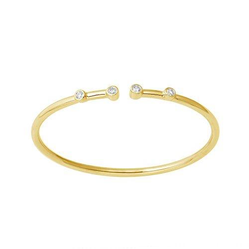 Little Switzerland Flexible Diamond Bangle Bracelet 4 Stone (Yellow-Gold)
