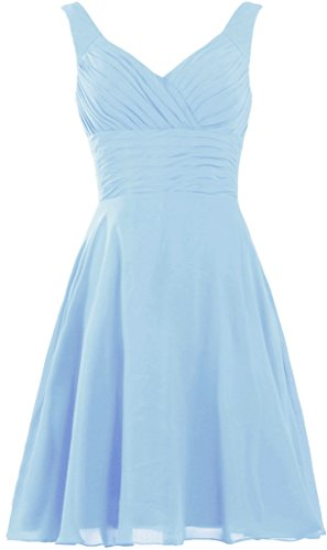 ANTS Women's Pleated Sweetheart Bridesmaid Dresses A Line Cocktail Gown Size 6 US Baby Blue (Sweet Pleated)