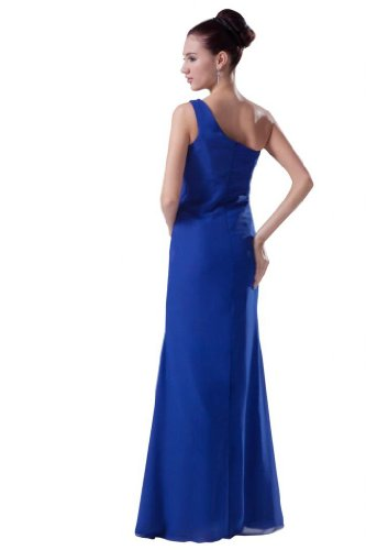 Orifashion para vestido de noche mujer un schulterträger König Azul azul cobalto