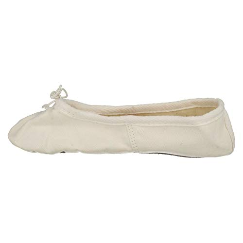 Soft Sole Ballet White Shoes On Canvas Spot Childrens 1zwI0