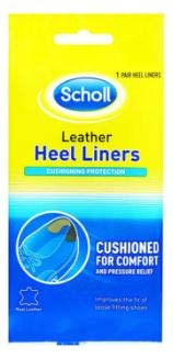 SCHOLL Leather Heel Liners 1 Pair -Improves The fit of Loose Fitting Shoes, are Cushioned for Comfort and Prevent Heel Slip and -