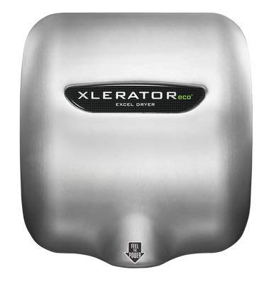 Excel Dryer XLERATOReco XL-SB-ECO High Speed Commercial Hand Dryer, Brushed Stainless Cover, Automatic Sensor, Surface Mount, Noise Reduction Nozzle, LEED Credits, No Heat 4.5 Amps 110/120V