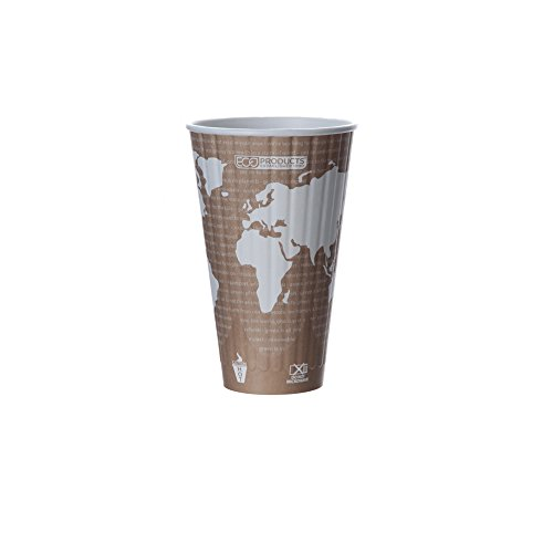Eco-Products - Compostable, Insulated Paper Cup - 20 oz. Drink Cup - EP-BNHC20-WD - (15 Packs of 40)
