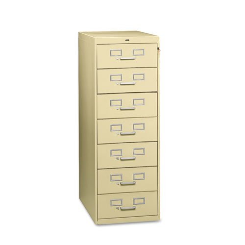 Tennsco Seven-Drawer Multimedia Filling (Library Card File Multimedia Cabinet)