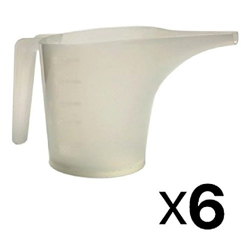 Norpro 2-Cup Measuring Funnel Pitcher Translucent White Batter Pouring (6-Pack)