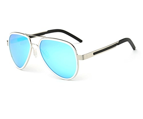 Konalla Classic Polarized Double Frame UV Protective Avaitor Sunglasses - Fake Aviators Ray Bans
