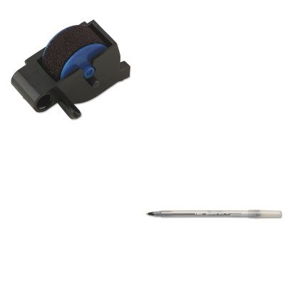 1 - Value Kit - Dymo Replacement Ink Roller for DATE MARK Electronic Date/Time Stamper (DYM47001) and BIC Round Stic Ballpoint Stick Pen (BICGSM11BK) ()
