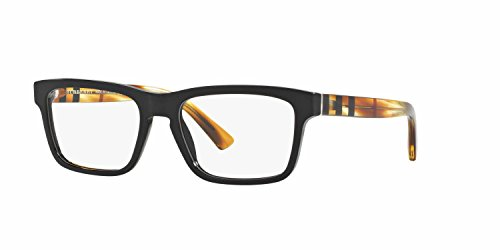 Burberry Men's BE2226 Eyeglasses Black 55mm & Cleaning Kit Bundle