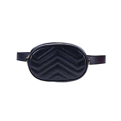 Women Waist Belt Bag Luxury Bags For Women Corduroy Waist Bag,Black