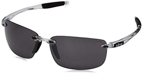 Revo Descend N RE 4059 09 GY Polarized Rectangular Sunglasses, Crystal Graphite, 64 - Revo Descend N Sunglasses