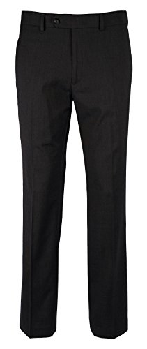 RALPH LAUREN Men's Slim Fit Comfort Flex Flat Front Dress (Ralph Lauren Pant Suit)