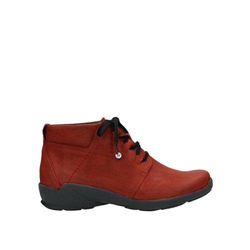 Wolky 11542 In Jaca Nabuk Scarpe Al Pizzo Comfort Inverno Rosso I7qFwBq