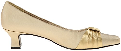Easy Street Womens Waive Dress Pump Satin Oro