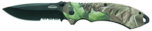 Remington Cutlery R11614 F.A.S.T. 2.0 Large Folder Assisted Opener Knife with Black Oxide Serrated Blade, 5-Inch, Mossy Oak Obsession