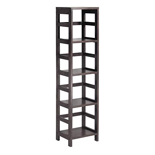 Winsome Wood 92514 Leo Model Name Shelving, Small, - Door Wood Tower