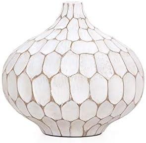 Torre Tagus Carved Divot Resin Vase