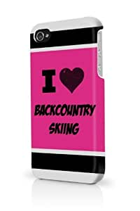 Backcountry Skiing Pink iPhone 5/5S Case - For iPhone 5/5S - Designer PC Case Verizon AT&T Sprint