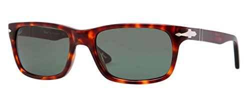 Persol Men's PO3048S Sunglasses Havana/Crystal Green ()