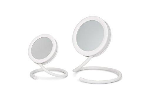 Joy Mangano Set of 2 Handy Hook Mirror, White