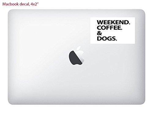 Square 4x2 Macbook Laptop VINYL DECAL Sticker Skin Print / Weekend Coffee and - Fashion Wiki Designers