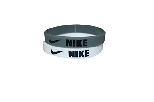 Nike Grey/Blk-White/Blk-Combo 2pk (Nike Baller Wristband)