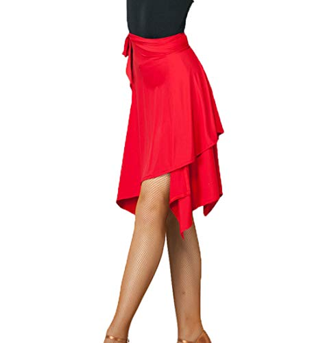 Rumba Dress Tango Gonna Modlatbal Skate Adult Panno Ragazze Red Per Ballo Da Latina Donna Scarf Wrap Swing 7wUwqz8