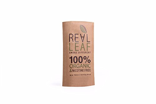 Real Leaf - Natural Herbal Smoking Blend for Rolling Tobacco & Nicotine Free Cigarettes - Organic (Tobacco Leaf)