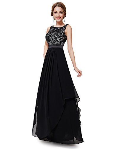 Ever-Pretty Women's Elegant Long Evening Dress 4 US Black