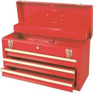 SENATOR Caja de herramientas 520 x 218 x 304 mm 3 cajones con llave rojo: Amazon.es: Bricolaje y herramientas