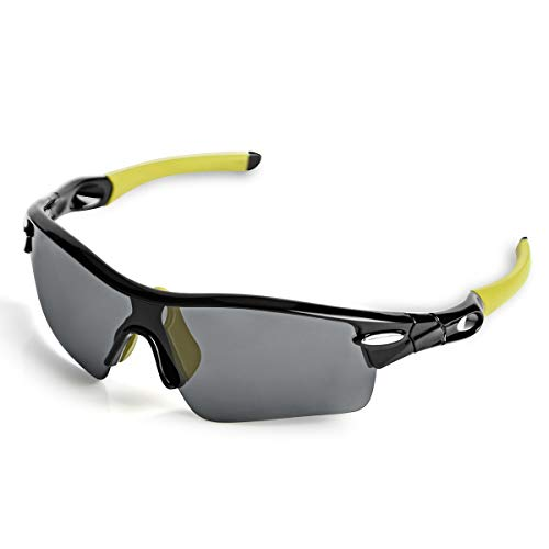 WONGKUO Polarized Sunglasses Men Women Sport Glasses 5 Interchangeable Lenses