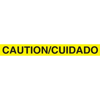 (3 in. x 1000 ft Bilingual Yellow Caution Tape - 2.0 mil)
