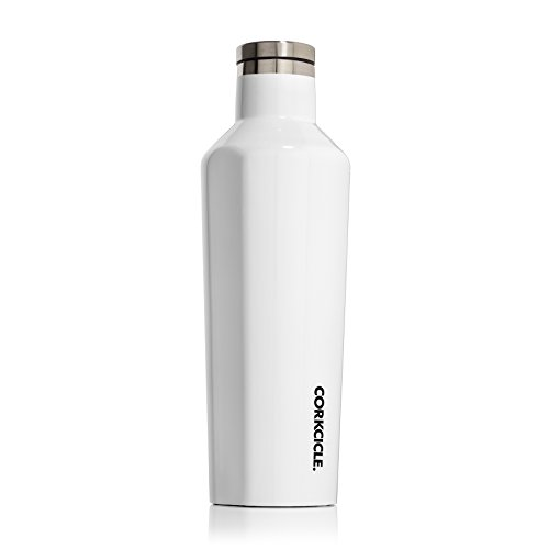 Corkcicle Canteen Classic Collection-Water Bottle & Thermos-Triple Insulated Shatterproof Stainless Steel, 16 oz, Gloss White 16 Ounce White Wine