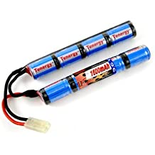 Tenergy 9.6V NiMH 1600mAh Rechargeable Butterfly Battery Pack with Mini Tamiya Connector for Airsoft Guns