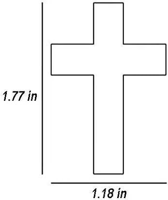 Fai-ry Tai-l 3D Print Cross Necklace Zinc Alloy Pendant Religious Anime Jewelry Pendant