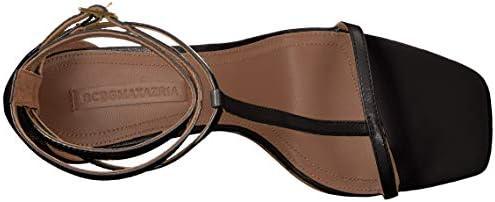 BCBGMAXAZRIA Women's Ina T-Strap Dress Sandal Sandal, Black, 5.5 M US