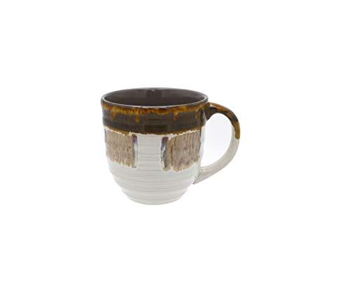 Large Coffee Mugs 20 Ounce - Creative Glazed Ceramic Coffee and Tea Cups (Gray, 1)
