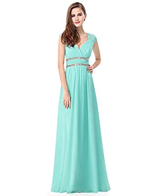 Ever-Pretty Women's Elegant V-Neck Sleeveless Formal Long Evening Dress 08697