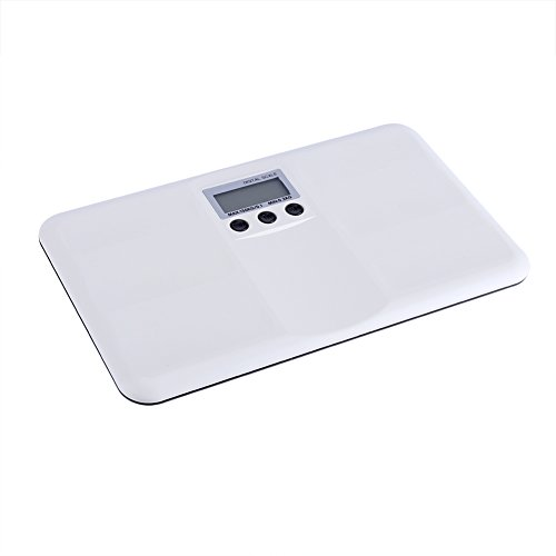 Garosa Weight Scale for Baby White Multi-Function Toddler Pet Scale Automatic Digital Weight Capacity LED Display Electronic On/Tare Function Low Battery/Lock Alarm Backlight Pets Dogs Cats Scale ()