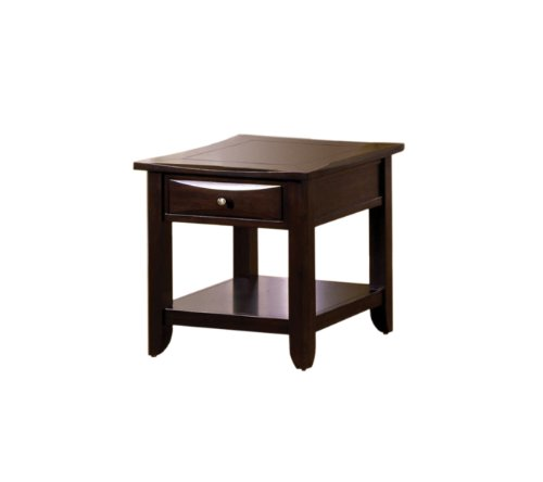 Furniture of America Hudson 1-Drawer End Table, Espresso Finish