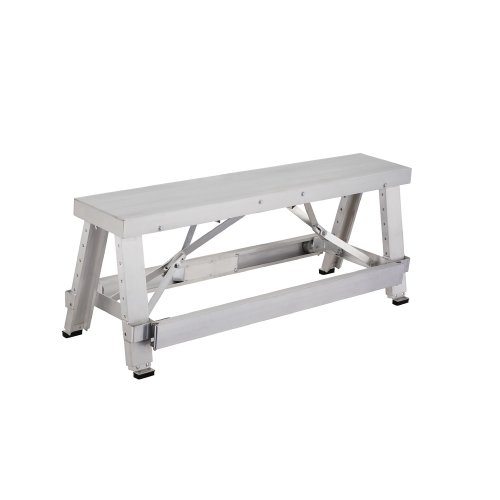 Pentagon Tool Professional Aluminum Drywall Bench Adjustable Lift Step Workbench Misc In The
