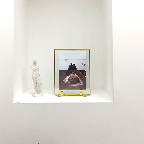 CANDIKO Floating 11x14 Picture Frame Table Top Metal Photo Frame (Gold, Portrait or Landscape)