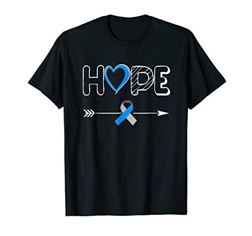 Hope Blue Ribbon Diabetes Type 1 Awareness Shirt Women Men -